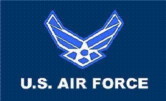 "Air Force ""New Style"" MILITARY Flag - 3 foot by 5 foot Polye"
