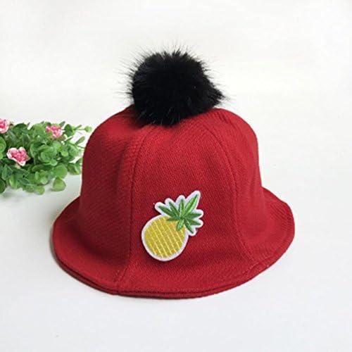 DIGOOD Newborn Baby Hair Ball Pineapple Basin Cap Floral Sun Bucket Kids Hat