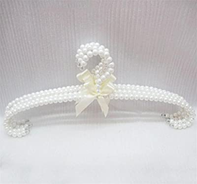ABS Plastic White pearl Butterfly knot Non-slip Adult Hangers Clothing store Show Clothes Hangers (pack of 10)