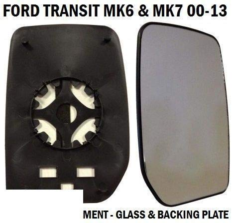 FRONT DOOR WING MIRROR GLASS TRANSIT MK6 MK7 2000-2014 DRIVERS RIGHT SIDE TPUK