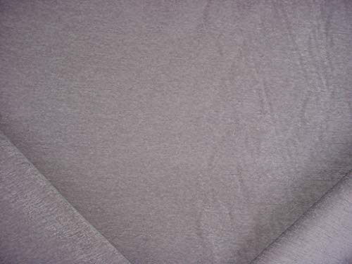 385RT16 - Gray Deep Silver Plush Velvety Chenille Designer Upholstery Drapery Fabric - by The - Silk Silver Upholstery