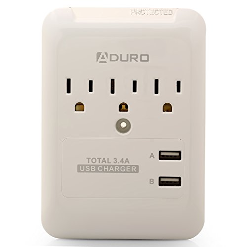 Aduro Surge Protector Charger White