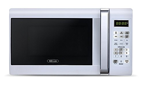 Bella 700-Watt Compact Microwave Oven, 0.7 Cubic Feet, White with Chrome (Microwave Oven Small White compare prices)