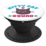 Kawaii Feline Lovers Kitty Cat Squad Funny Crazy Cat Lady - PopSockets Grip and Stand for Phones and Tablets