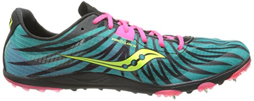 Scarpe Donna Saucony Carrera Xc Spike Cross Country Teal / Rosa / Cedro