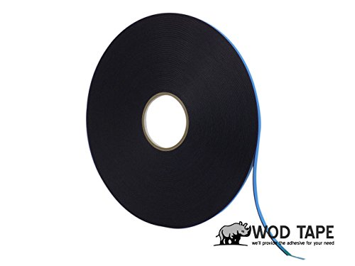 (WOD DC-PEF12P High Performance Double Coated Window Glazing Foam Tape, High Adhesion Level, Weather Resistant, Black (Available in Multiple Sizes & Colors): 3/8 in. Width x 75 Yards (Pack of 1))