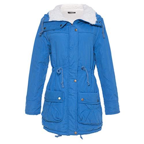 Manteau Bleu Mode Tookang Parka Style s Capuche Hiver 01 Lac Peluche Avec 3xl À Tailles Militaire Rembourrée Femme Fourrure Chaude qACRw