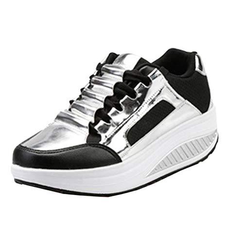 Piattaforma Creepers On Da Slip Argento Sportive Autunno Mocassini Sneakers Donna Casual Scarpe Passeggio FgOngq