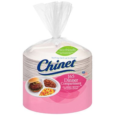 Dinner White Plate Classic (Chinet Classic White 10-3/8