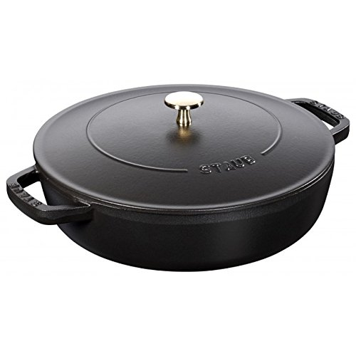 "Staub Braiser with Chistera Drop-Structure ? 9? "" Black"