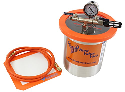 1.5 Gallon Tall Stainless Steel Vacuum Chamber to Degass Urethanes, Silicones and Epoxies (Bho Vac With Pump compare prices)