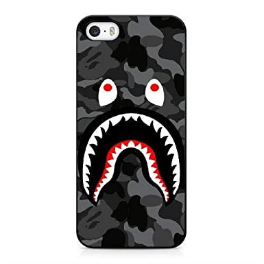 IPhone 5 5s Case PC Material BAPE SHARK LOGO HD Theme Only For
