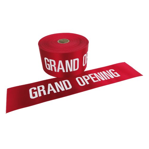 Wide Red White Letters Ceremonial product image