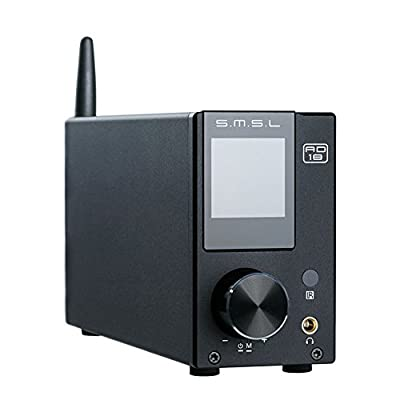 SMSL AD18 80Wx2 Bluetooth 4.2 HIFI USB DSP Full Digital Decoding Power Amplifier Optical Coaxial Input by SMSL