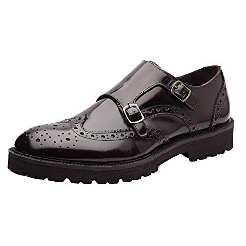 Allonsi | Genuine Leather Dress Shoes | Mens Wingtip Oxford Shoes | Leather Dress Shoes for Work | Handcrafted Detailing | Lightweight Sole | Quality Craftsmanship | Everyday Comfort