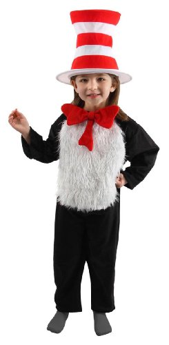 Girls Costume Cat Hat The In (Cat in the Hat Deluxe Costume -)