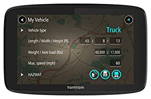 TomTom Trucker 620 6-Inch GPS Navigation Device for Trucks with Wi-Fi Connectivity, Smartphone Services, and Free Lifetime Traffic and Maps of North America