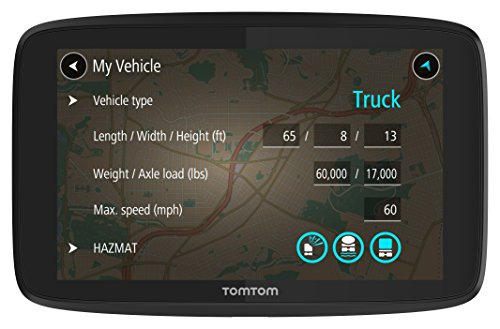 TomTom Trucker 620 6-Inch GPS Navigation Device for Trucks with Wi-Fi Connectivity, Smartphone Services, and Free Lifetime Traffic and Maps of North America (Tom Tom Truck Gps)