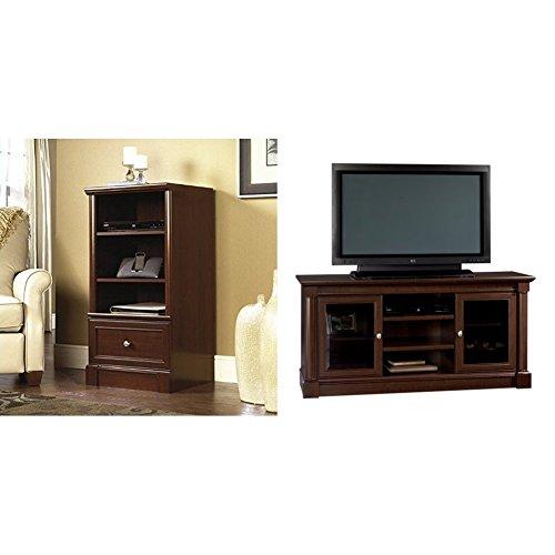 nology Pier Free Standing Cabinet, Select Cherry Finish + Sauder Palladia Entertainment Credenza, Select Cherry_Bundle ()