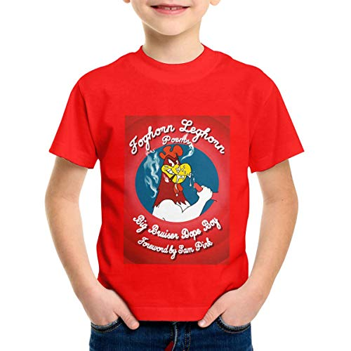 Patricia M Rivas Foghorn Leghorn Toddler Infant Comfort Soft Red Cotton Tees T Shirt Tops 4T -
