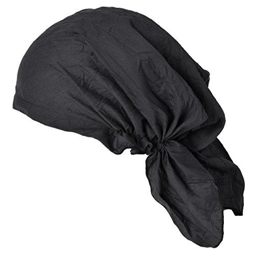 CHARM Pirate Bandana Head Scarf - Mens Balding Hair Cap Womens Headwrap Hat Chemo Wear Du Rag Cotton Summer - Pirate Xl