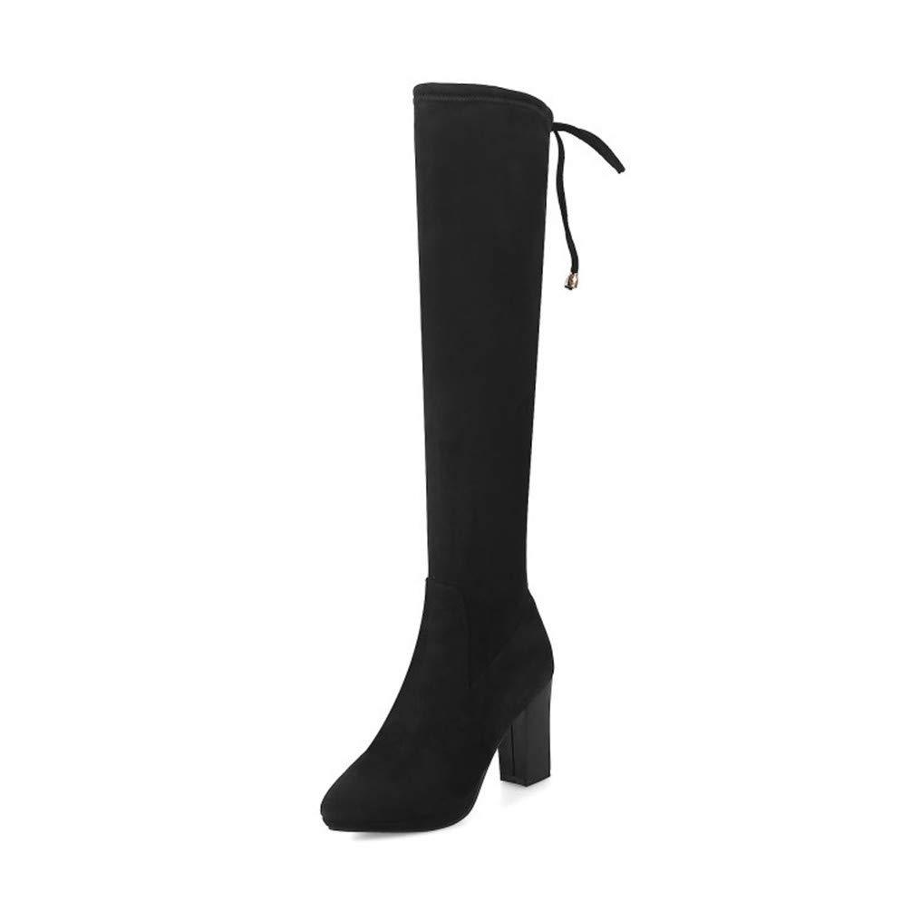 Bottes Femme | Bottes, Chaussures Bottines 18764 | Genoux élastiques, Bottes, Gros Souliers, Chaussures épaisses. Black 47fd952 - latesttechnology.space