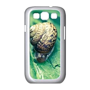 Samsung Galaxy S3 Case Cool Snail, Snail Samsung Galaxy S 3 Cases Guys [White]
