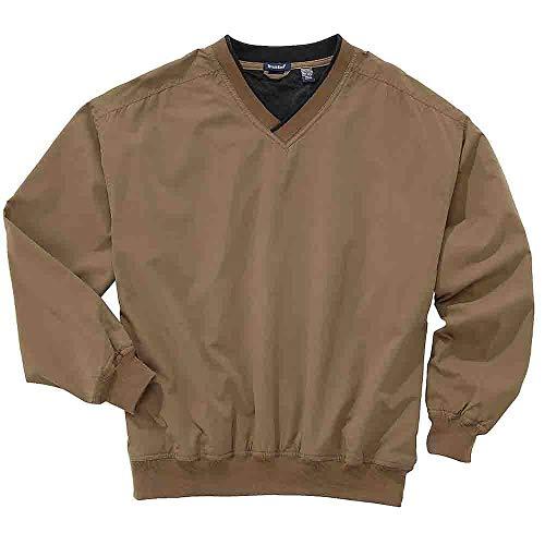 (Rivers' End Mens Lined Microfiber Windshirt Athletic Jacket Brown M)