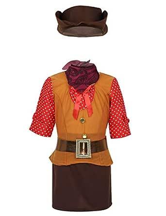 MSemis Disfraz Vaquero para Niñas Cosplay Cowboys Cowgirls Camisa ...