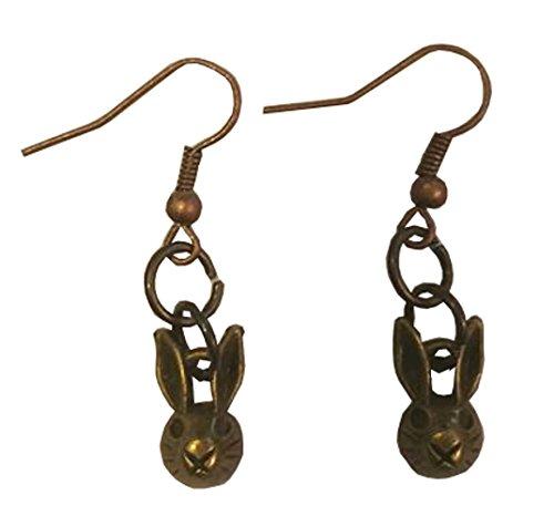 Peter Rabbit Bronzed Dangle Earrings (Homemade Rabbit Costume)