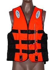 WANGQI Flytväst simning jacka polyester vuxen praktisk flytväst universal simning båtliv skidor drift väst med visselpipa förebyggande räddningsväst simhjälp S-XXXL