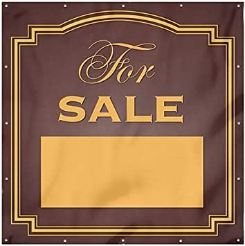 Classic Brown Wind-Resistant Outdoor Mesh Vinyl Banner CGSignLab for Sale 8x8