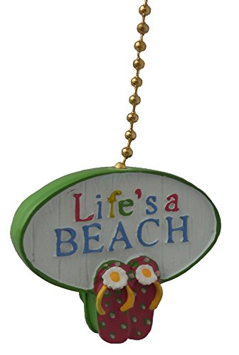 Lifes-A-Beach-Ceiling-FAN-PULL-light-chain-extender-extension