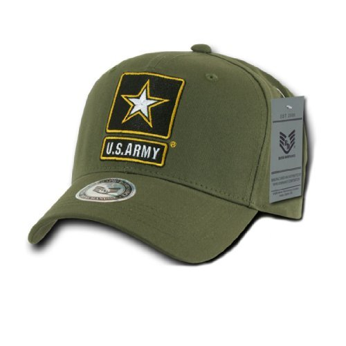 Rapid Dom US Miliatary Cotton Branch Logo Baseball Caps S76M Army Star - Branch Mall Olive