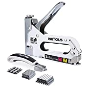 #LightningDeal WETOLS Staple Gun with Remover, Heavy Duty Staple Gun, 3 in 1 Manual Nail Gun with 3000 Staples(D, U and T-Type), for Upholstery, Material Repair, Carpentry, Decoration, Furniture, DIY WE-809