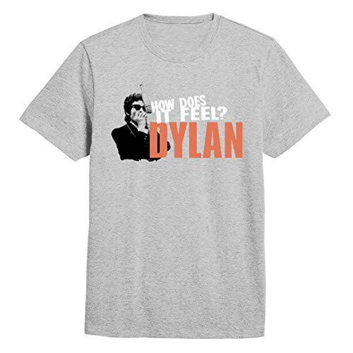 Bob Dylan Like a Rolling Stone Mic Pose Official Tee T-Shirt Mens Unisex (X-Large) Grey
