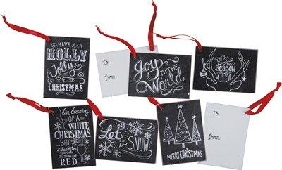 Set of 12 Gift Tags - Chalk ''Christmas''