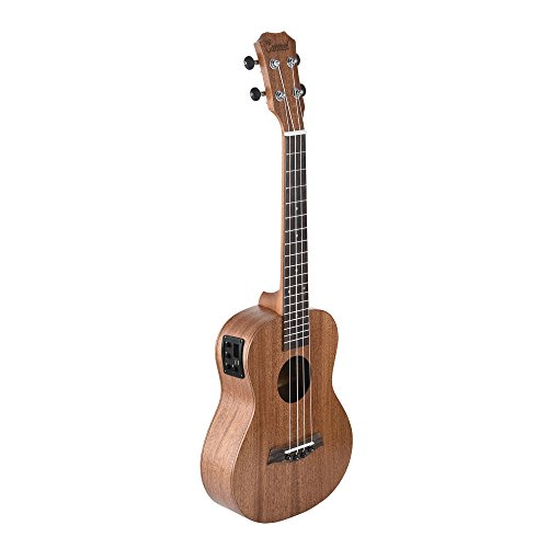 Caramel CT402 All Solid Mahogany Tenor Acoustic Electric Ukulele With Truss Rod by Caramel