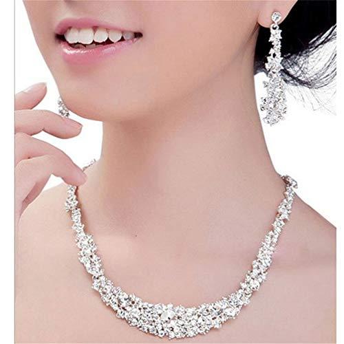 [해외]Toporchid 주얼리 세트 여성 목걸이 귀걸이 세트 크리스탈 웨딩 쥬얼리 세트 / Toporchid Bridal Jewelry Set Women Necklace Earring Set Crystal Wedding Jewelry Set