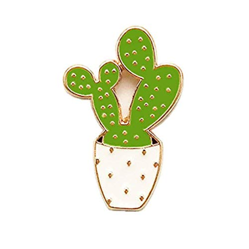 andy coolWomen Girls Cactus Brooch Pin Badges Clothes Bags Backpacks Lapel Pin Potted Plant Breastpin Useful and Practical