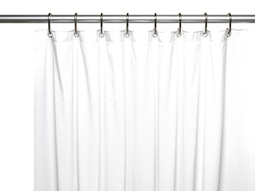 carnation home fashions jumbo long vinyl shower curtain liner 72 inch by 96 inch white. Black Bedroom Furniture Sets. Home Design Ideas