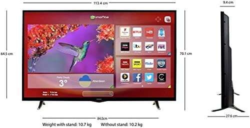Hitachi 50HYT62U 50 Inch Full HD Freeview HD Smart LED TV, [Importado de UK]: Amazon.es: Electrónica