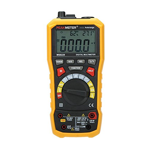 PEAKMETER MS8229 5 in 1 Auto Range DMM Digital Multimeter with Noise (Dmm Digital Multimeter)
