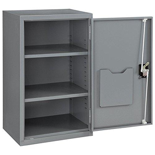 Assembled Wall Storage Cabinet, 19-7/8x14-1/4x32-3/4, Gray Assembled Wall Storage Cabinet