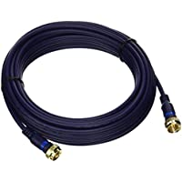 C2G/Cables to Go 27229 Velocity Mini-Coax F-Type Cable (25 Feet, Blue)