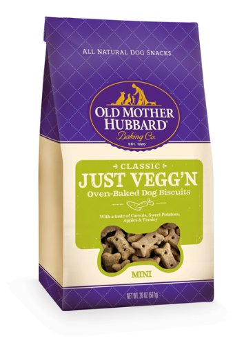 Old Mother Hubbard Crunchy Classic Snacks for Dogs, Mini, Just Vegg'N, 20-Ounce Bag, My Pet Supplies