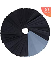 Zacro Sandpaper 51 Pcs Wet and Dry Mixed Grits Sandpaper 120 to 3000 Waterproof Sandpaper for Wood Furniture,Finishing Metal Sanding and Automotive Polishing