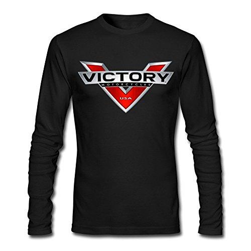 Men's Victory Motorcycle Logo 100% Cotton Long Sleeve T-shirt - Sale Jordans Customize For