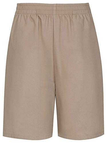CLASSROOM Big Boys' Uniform Pull-On Husky Short, Khaki, 8