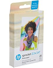 """HP Sprocket 2.3 x 3.4"""" Premium Zink Sticky Back Photo Paper (20 Sheets) Compatible with HP Sprocket Select and Plus Printers."""